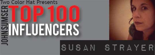 Top 100 Influencer Banner for Susan Strayer on HRExaminer.com