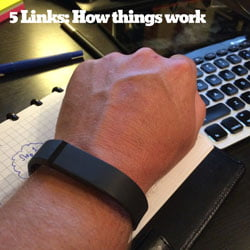 photo of fitbit on HR Examiner March 20 2014
