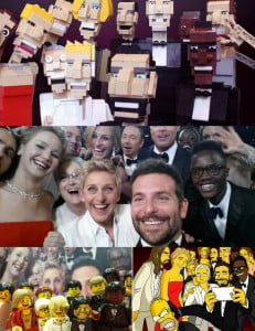 The 2014 Oscar selfie featuring Ellen, Bradley Cooper and others.