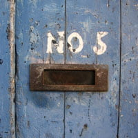 photo of door with letter opening and number 5 in HRExaminer.com article 5-Links on How Things Work by John Sumser published July 1, 2014
