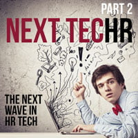 photo of man and graphics in HRExaminer series on next wave of HR Technology