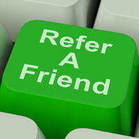 Photo of computer button with refer a friend on it - How referrals work by John Sumser on  HRExaminer.com