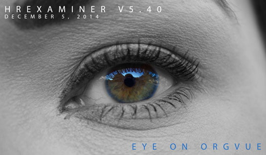Photo of eye in feature article about OrgVue on HRExaminer December 5, 2014