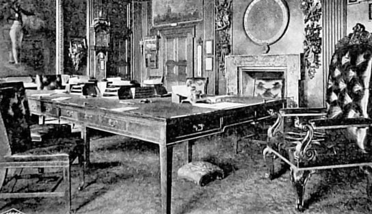 photo of old drawing room (Whitehall England)