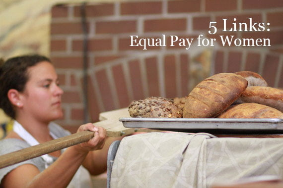 photo of woman baking break (commercial) in article by Heather Bussing appearing  on HRExaminer.com April 14, 2015 in article about equal pay for women