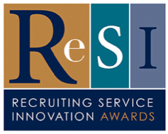logo for Recruitment Service Innovation Awards appearing on HRExaminer.com