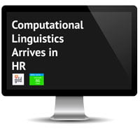 image of desktop computer with text and logos for HRExaminer.com article titled Computational Linguistics Arrives in HR by John Sumser published June 1, 2015