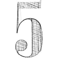 illustration of numeral 5 on HRExaminer.com article with five links published 2015-06-29