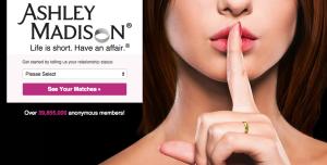 image of Ashley Madison website