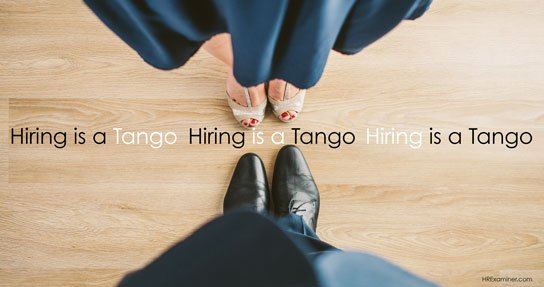 photo of two people preparing to dance in HRExaminer.com article by Bob Corlett Hiring is like a Tango published on November 4, 2015