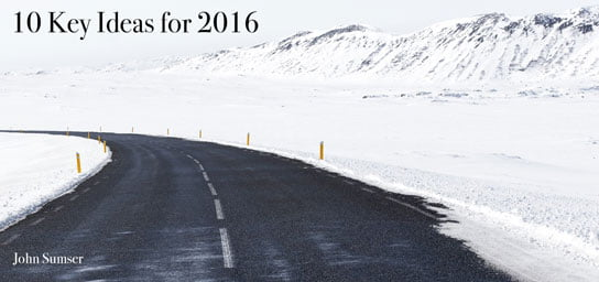 photo of winter road with snow capped mountains in HRExaminer.com Article by John Sumser 10 Key Ideas for 2016 photo credit Jon Ottosson cc0