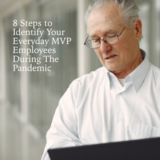 2020-12-28 HR Examiner article John Sumser 8 Steps Identify Everyday MVP Employees Pandemic Envato photo img old man standing in the office with a laptop PCM6CUL 544px.jpg