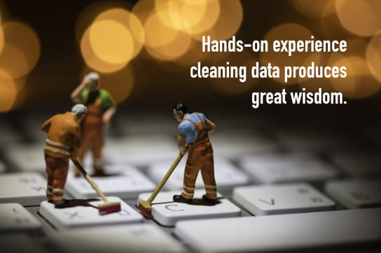 2021-02-15 HR Examiner article John Sumser Hands on experience cleaning data produces great wisdom stock photo img cc0 by AdobeStock 254185916 544x363px.jpg